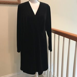 EUC! Stunning Ashley Stewart Stretch Velvet Dress